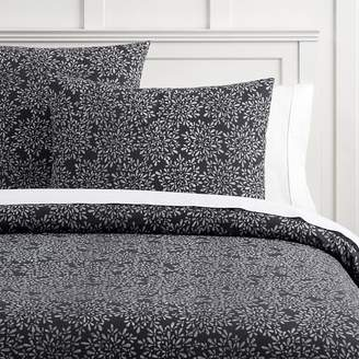 Pottery Barn Teen Mia Floral Organic Duvet Cover, Full/Queen, Vintage Ebony