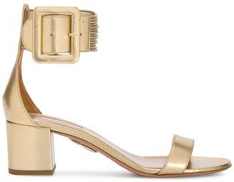 Aquazzura Gold Casablanca 50 sandals
