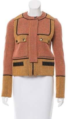 Proenza Schouler Leather-Accented Tweed Jacket