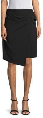 Ellen Tracy Bow-Front A-Line Skirt