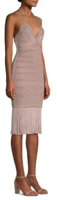 Herve Leger Jacquard Fringe Dress