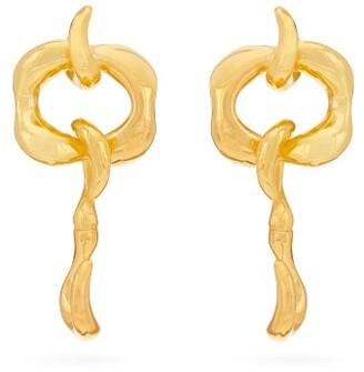 Sophia Kokosalaki Hook Pendulum Sculptural Drop Earrings - Womens - Gold