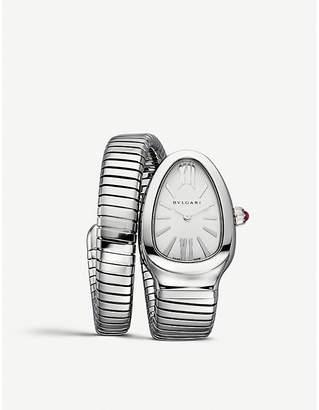 Bvlgari Serpenti Tubogas stainless steel watch