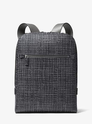 Michael Kors Harrison Crosshatch Leather Backpack