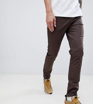 Asos DESIGN Tall skinny chinos in dark brown