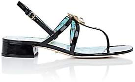 Gucci Women's Patent Leather Sandals - Black