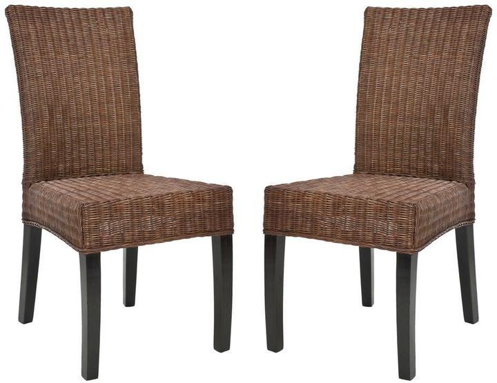 Safavieh Grayton Dark Brown Mahogany Side Chair (Set of 2)