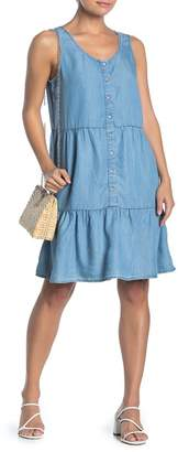 BeachLunchLounge Sleeveless Button Down Babydoll Dress