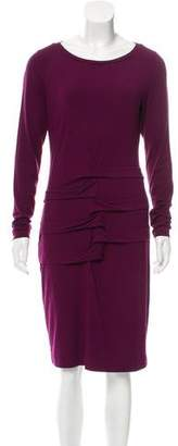 Nicole Miller Long Sleeve Knee-Length Dress
