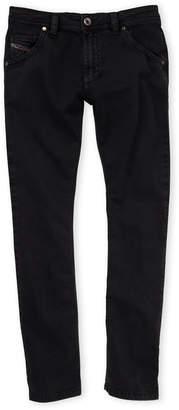 Diesel Boys 8-20) Black Krooley-J Regular Slim-Carrot Jeans