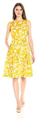Anne Klein Women's Cotton Print Fit and Flare