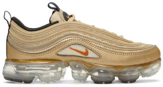 Nike Gold Air Vapormax 97 Sneakers