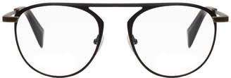 Yohji Yamamoto Black Thick Wire Glasses