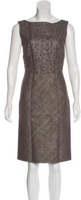 Alberta Ferretti Wool-Blend Dress