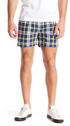 Parke & Ronen Cuff Hem Plaid Shorts