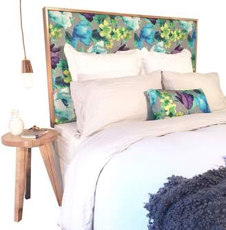 Cornermill Romantic Florals Opal Upholstered Bed Head, Timber Legs, Single