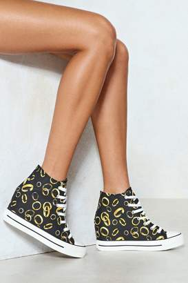 Nasty Gal Should of Put a Ring on It Wedge Sneaker