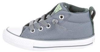 Converse Girls' Canvas Round-Toe Sneakers