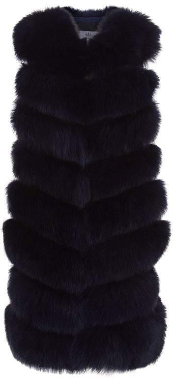 Jane & Tash Long Fox Fur Gilet