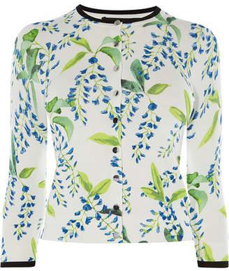 Karen Millen Floral Print Cardigan