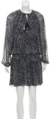 Ramy Brook Animal Print Silk Dress