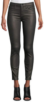 7 For All Mankind Metallic Mid-Rise Skinny Ankle Jeans