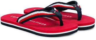 Tommy Hilfiger Junior striped flip flops