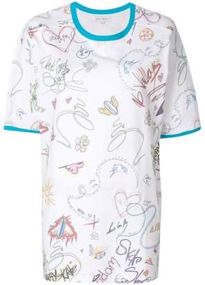 Mira Mikati sketch print T-shirt