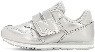 New Balance 373 Metallic Faux Leather Sneakers