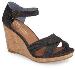 Women's Toms Sienna Wedge Sandal $78.95 thestylecure.com
