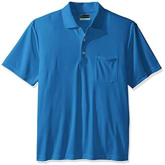 PGA TOUR Men's Driflux Solid Pocketed Polo