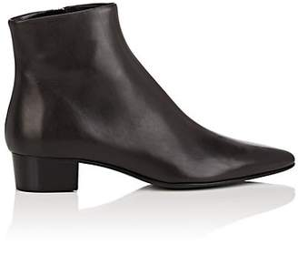 The Row Women's Ambra Leather Ankle Boots - Brown