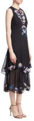Nanette Lepore Journey Floral Tiered Midi Dress