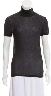 Jean Paul Gaultier Short Sleeve Mock Neck Top