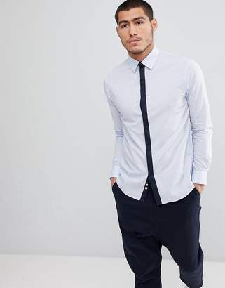 Celio Smart Shirt With Contrast Placket