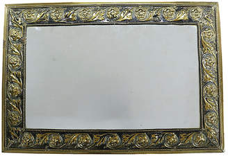 One Kings Lane Vintage Antique English Brass Mirror