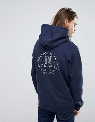 Jack Wills Batsford Hoodie In Navy