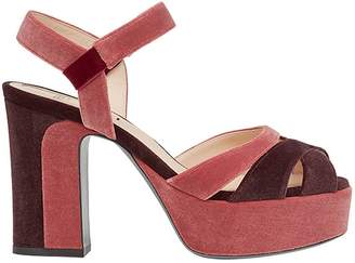 Fendi strappy platform sandals
