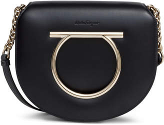 Salvatore Ferragamo Margot Gancino Vela black leather bag