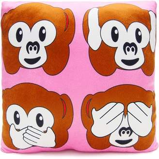 Royal Deluxe Accessories Llc Emoji Monkey Square Pillow, Pink
