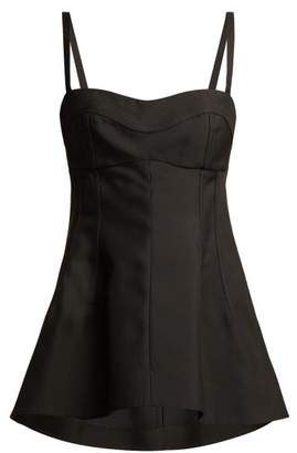 Jil Sander Sweetheart Neckline Flared Evening Top - Womens - Black