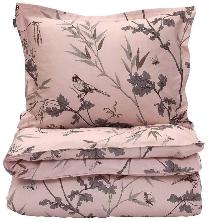 Birdfield Duvet Cover - Tan Rose - King
