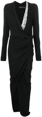 Alexandre Vauthier embellished neck dress