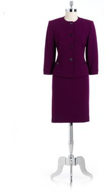 Tahari ARTHUR S. LEVINE Two-Piece Skirt Suit