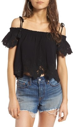 Women's Astr The Label Off The Shoulder Tank $98 thestylecure.com