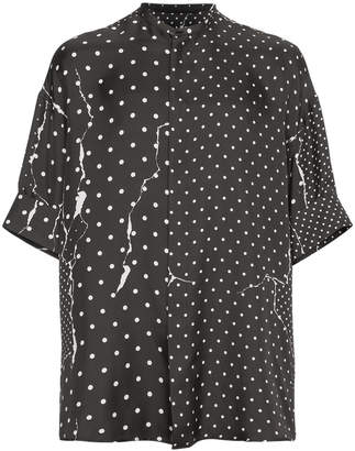 Haider Ackermann Polka Dot Silk Shirt