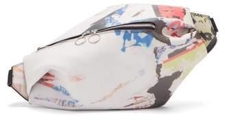 Marques Almeida Marques'almeida - Poster Print Leather Belt Bag - Womens - Multi