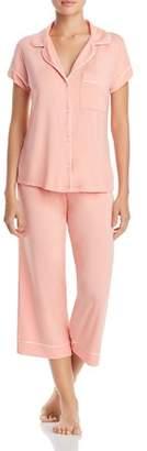 Eberjey Gisele Short Sleeve Crop Pajama Set