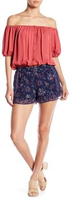 Joie Ciri Floral Print Silk Shorts