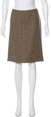 Dolce & Gabbana Wool Herringbone Skirt